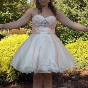 Blush, Beaded Homecoming Dress 💕